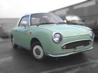 1991 Nissan Figaro open top green/for sale U.K. Canada/MONKY'S INC Japanese Used Car Exporter