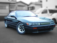 For sale JDM RHD Nissan stock used car 1989 S13 SILVIA K'S SR20DET SWAPPED TURBO MODIFIED DRIFT ENGINE CAR  FOR SALE EXPORT FROM JAPAN TO CANADA AUSTRALIA