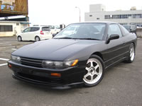 SOLD CAR/1991 JDM NISSAN 180SX modified sil-80 sileighty Black